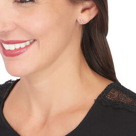 Boucles D'oreilles Pendantes Gloria Or Rose Diamant - Boucles d'oreilles pendantes Femme   Histoire d'Or