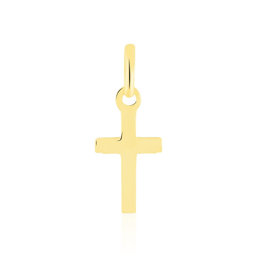 Pendentif Alyssa Croix Or Jaune - Pendentifs Croix Unisexe | Histoire d'Or