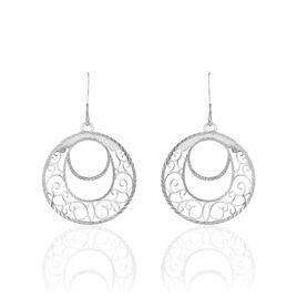 Boucles D'oreilles Pendantes Micaela Argent Blanc - Boucles d'Oreilles Papillon Femme | Histoire d'Or