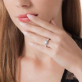 Bague Solitaire Maelline Argent Blanc Oxyde De Zirconium - Bagues solitaires Femme | Histoire d'Or