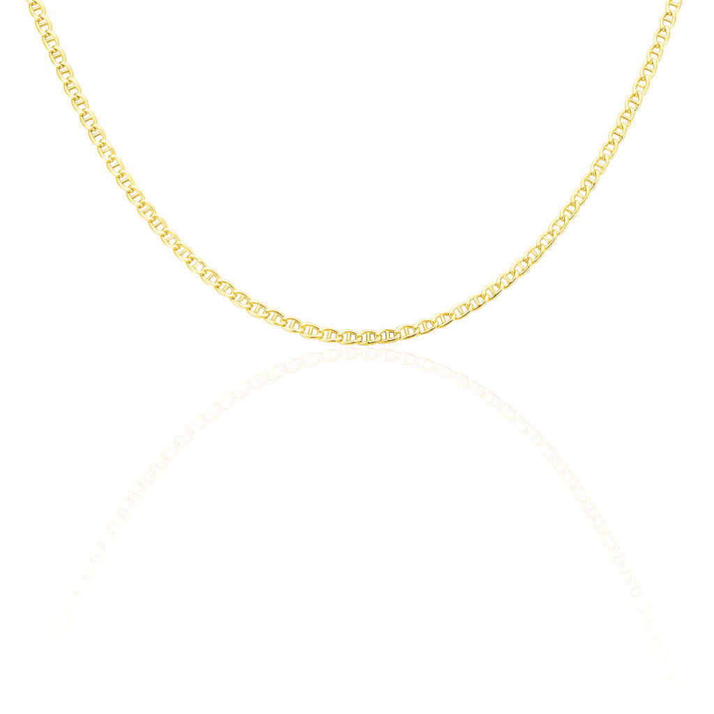 Chaîne Celio Maille Marine Ovale Or Jaune - Chaines Femme   Histoire d'Or