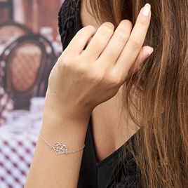 Bracelet Elda Argent Blanc - Bracelets Coeur Femme | Histoire d'Or