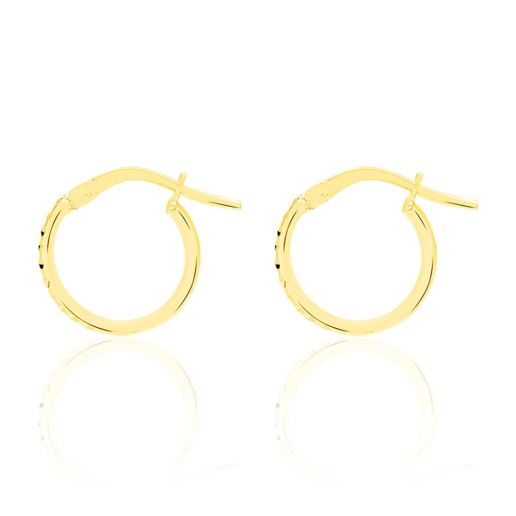 Créoles Asma Diamante Zebre Or Jaune - Boucles d'oreilles créoles Femme   Histoire d'Or