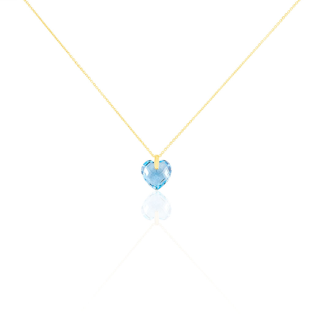 Collier Ludmille Or Jaune Topaze - Colliers Coeur Femme | Histoire d'Or