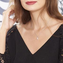 Collier Lucine Argent Blanc Oxyde De Zirconium - Colliers fantaisie Femme | Histoire d'Or