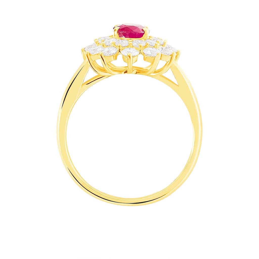 Bague Ivan Or Jaune Rubis Et Diamant - Bagues avec pierre Femme | Histoire d'Or