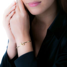 Bracelet Jonc Clemmie Or Jaune - Bracelets joncs Femme | Histoire d'Or