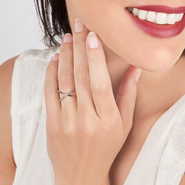 Bague Caro Or Blanc Diamant - Bagues avec pierre Femme   Histoire d'Or