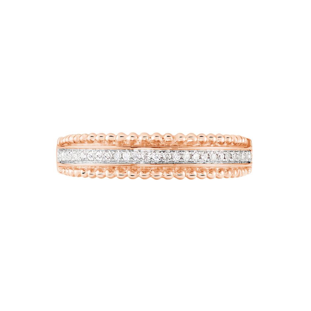 Bague Aurelya Or Rose Diamant - Bagues avec pierre Femme | Histoire d'Or
