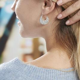 Créoles Kohana Argent Blanc - Boucles d'oreilles créoles Femme | Histoire d'Or