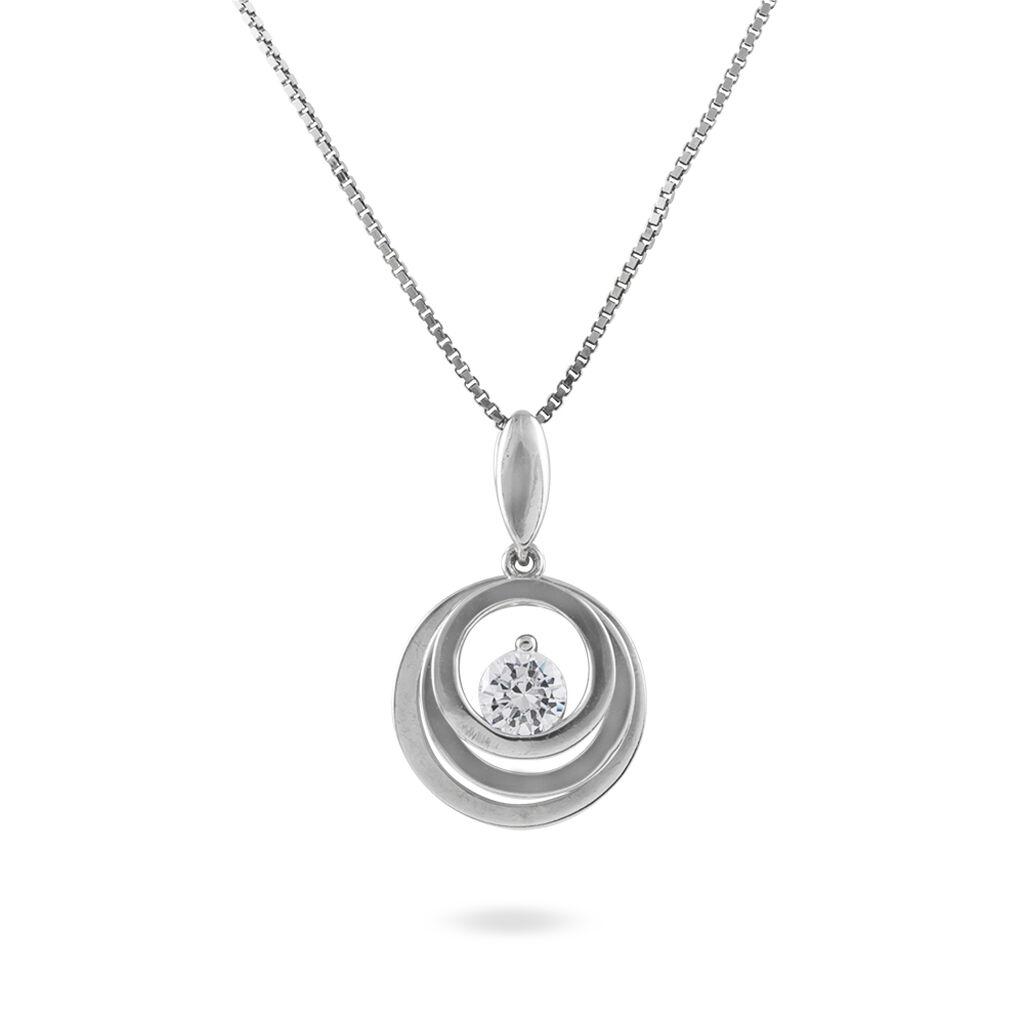 Collier Argent 3 Cercles Oxyde - Colliers fantaisie Femme | Histoire d'Or