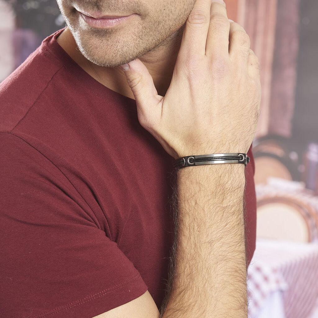 Bracelet Nathan Acier Blanc - Bracelets fantaisie Homme   Histoire d'Or