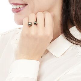 Bague Or Blanc  Et Perle - Bagues avec pierre Femme | Histoire d'Or
