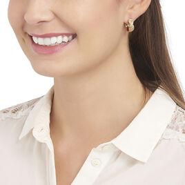 Créoles Patrizia Plaque Or Jaune - Boucles d'oreilles créoles Femme | Histoire d'Or