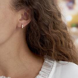 Créoles Markus Plaque Or Jaune - Boucles d'oreilles créoles Unisexe | Histoire d'Or