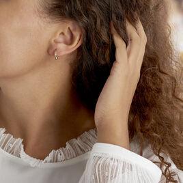 Créoles Wadim Plaque Or Jaune - Boucles d'oreilles créoles Unisexe | Histoire d'Or