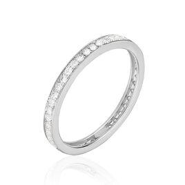 Alliance Juliette Tour Complet Or Blanc Diamant - Alliances Femme   Histoire d'Or